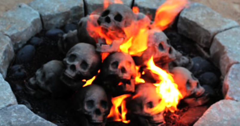 PUMPKINROT.COM: What's Brewing: Skull Fire Pit