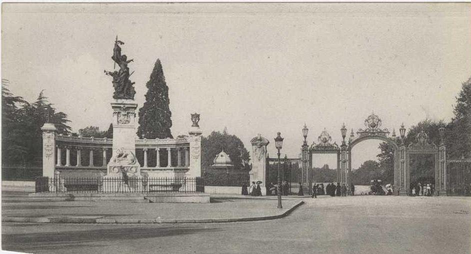 Entrée du Parc tête d'or et le monument des légionnaire du Rhône