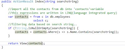 Searching in ASP.NET MVC Application