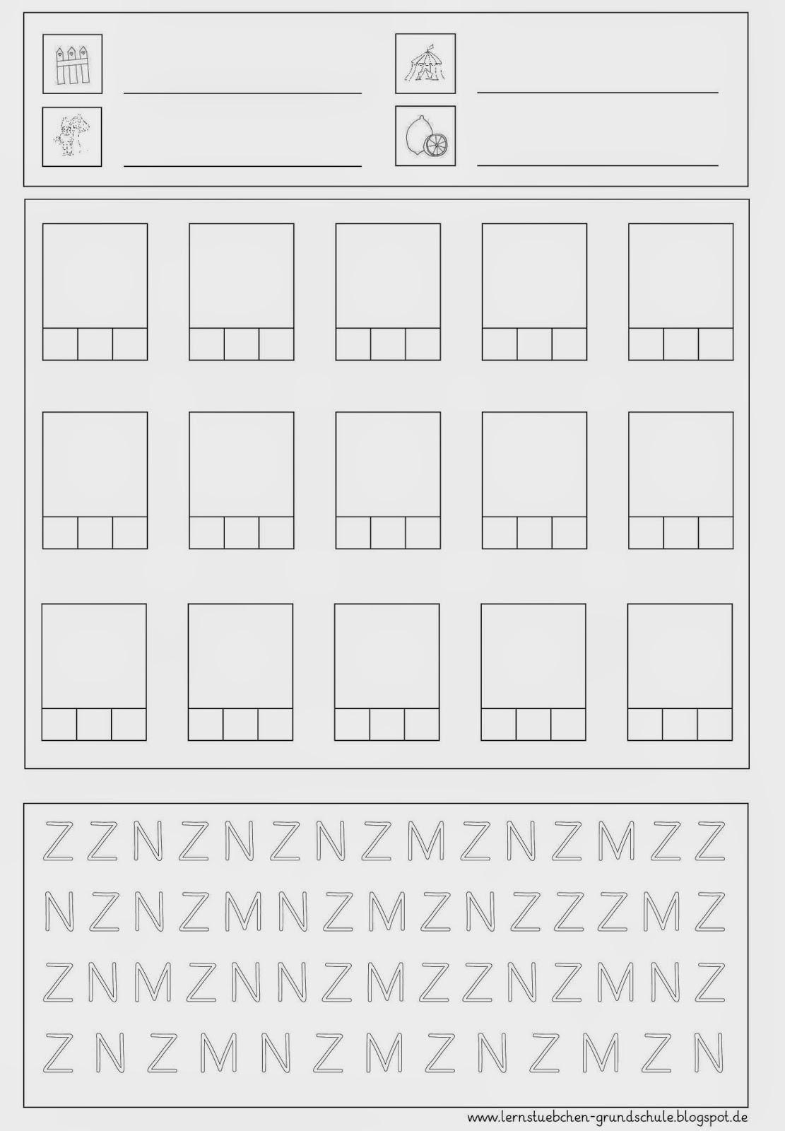 Lernstübchen: Arbeitsblätter zum Z - z
