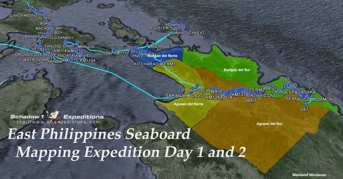 East Philippines Seaboard Mapping Expedition Day 1 and Day 2 - Schadow1 Expeditions