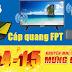 Internet FPT thông báo ưu đãi lắp Cáp quang FPT tháng 4/2019