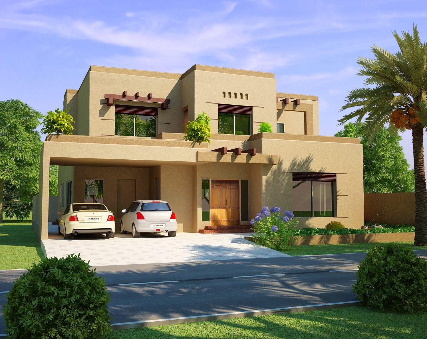 3d Front Elevation Concepts: Beautiful House HD Wallpaper