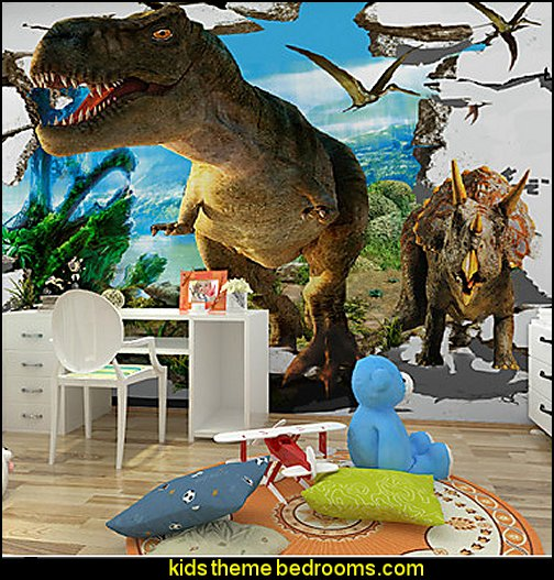 Dinosaur Murals dinosaur theme bedrooms - dinosaur decor - decorating bedrooms dinosaur theme - dinosaur room decor - dinosaur wall murals - dinosaur wall decals - life size dinosaur props - dinosaur duvet