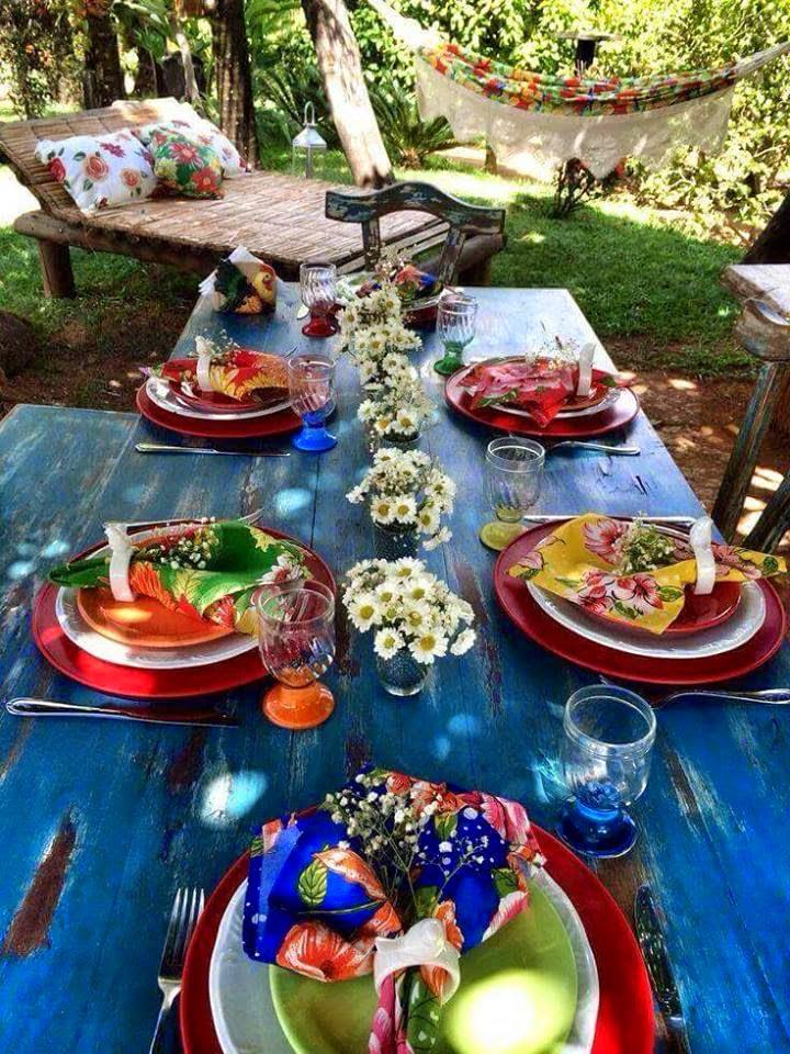 mesa posta verão chita cores