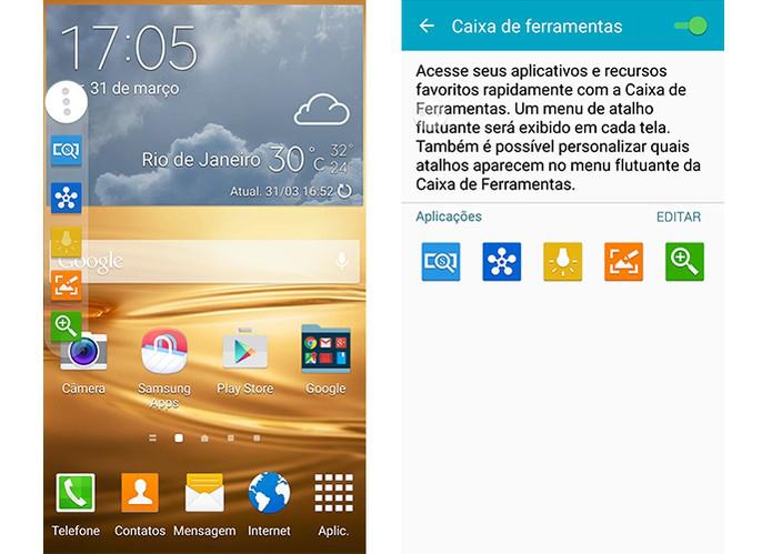 Caixa de ferramentas do smart Galaxy da Samsung