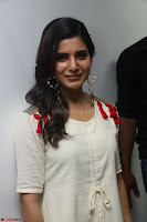 Samantha Ruth Prabhu Smiling Beauty in White Dress Launches VCare Clinic 15 June 2017 011.JPG