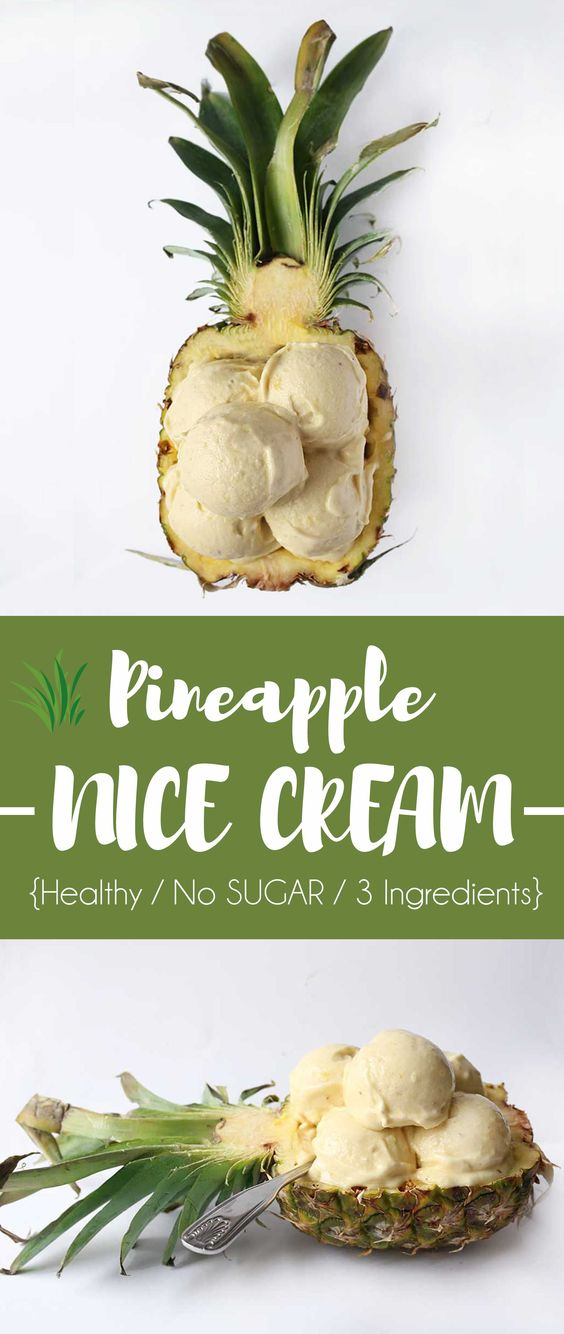 Healthy Pineapple Banana Icecream #icecream #banana