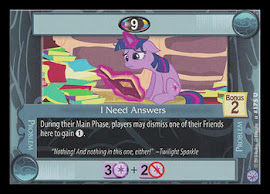 My Little Pony I Need Answers Premiere CCG Card