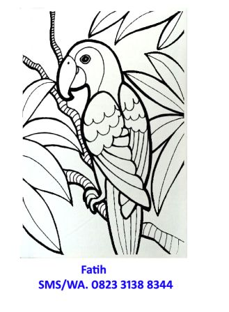 kanvas burung