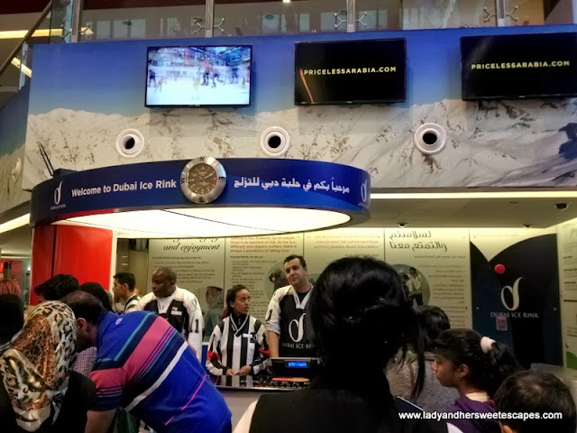 entrance counters at Dubai Ice Rink