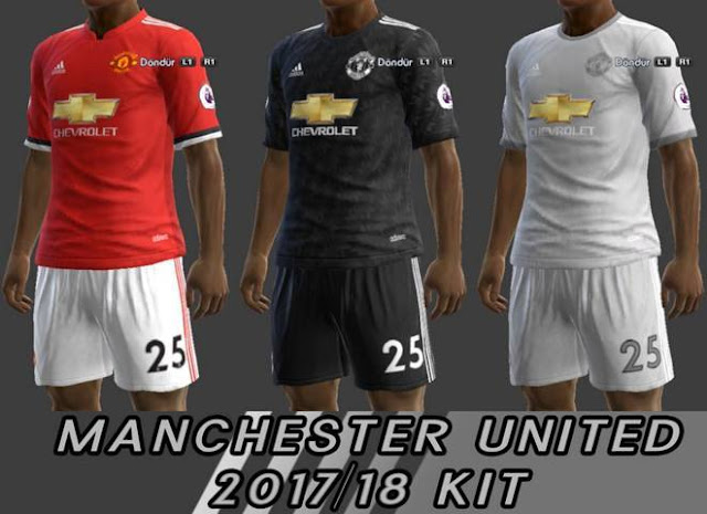 b81d392b14a Man United 2017-18 Kits - PES 2013 - PATCH PES