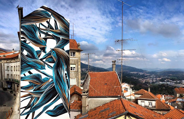 The excellent Wool Festival is back with a brand new extra piece which was just completed by Pantonio in the center of Covilhã in Portugal.