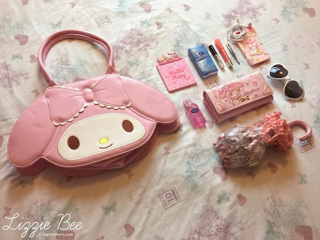 kawaii bag contents