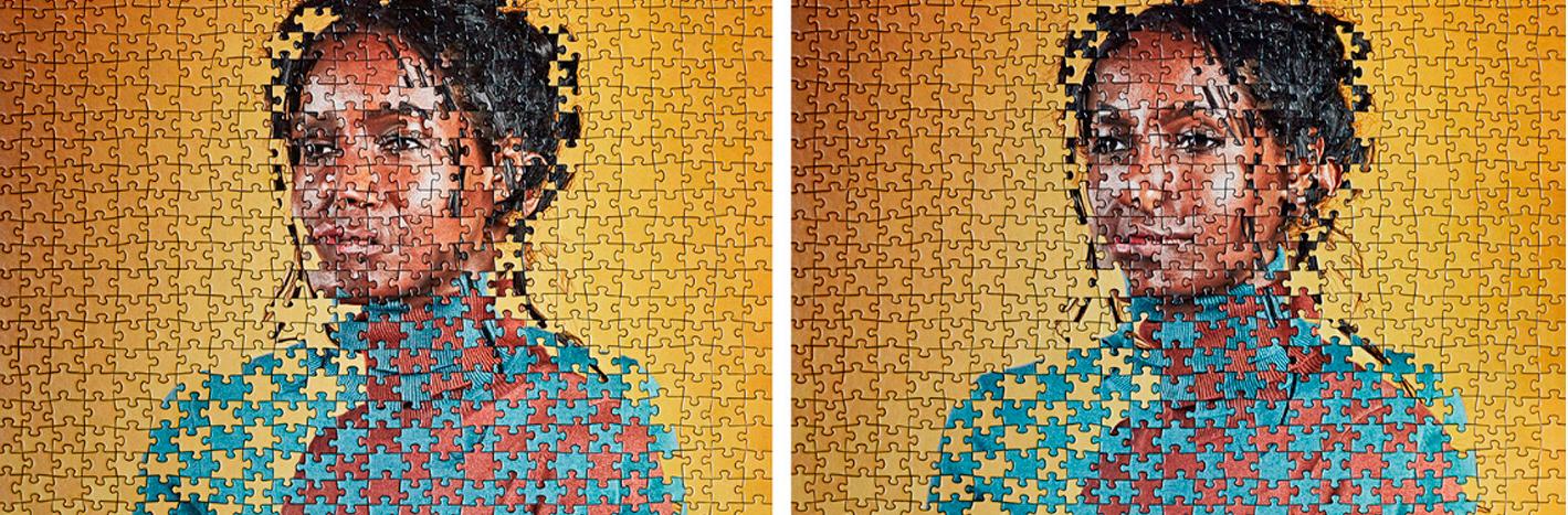 Puzzles artísticos con gemelos de Alma Haser