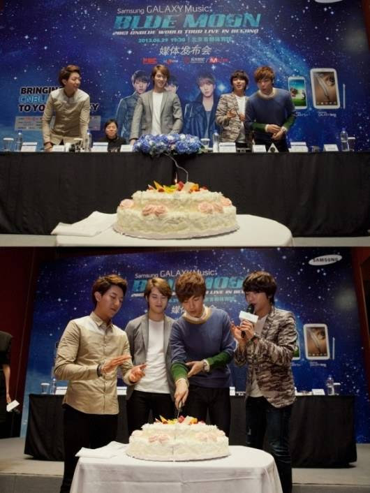 CNBLUE celebrates Minhyuk's birthday in Beijing