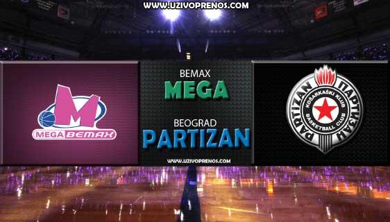 ABA Liga: Mega Bemax - Partizan UŽIVO PRENOS