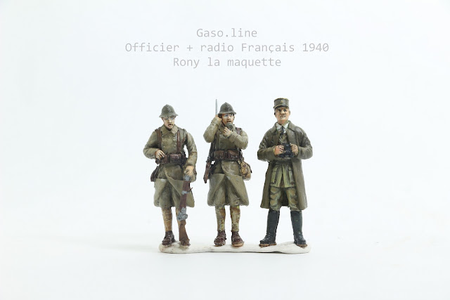 Officier et  radios français de 1939-40 de Gaso.line au 1/48.