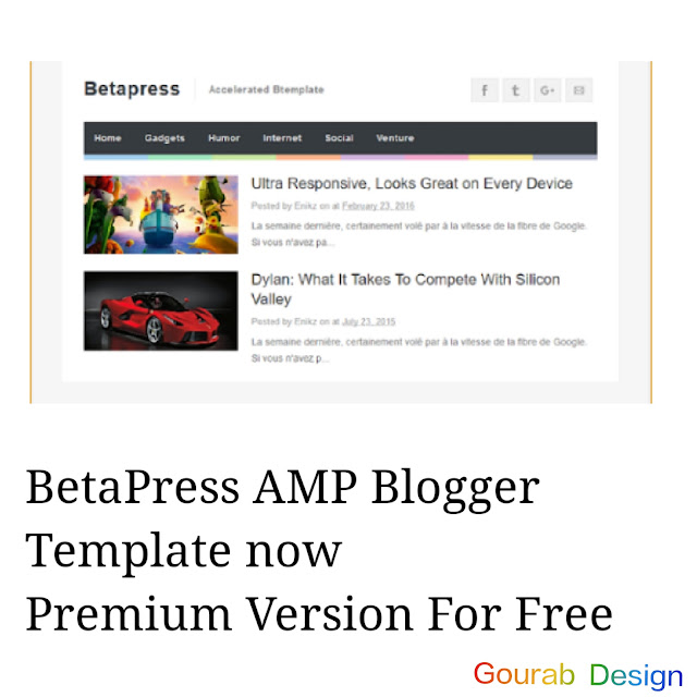 Betapress Blogger Template 2018