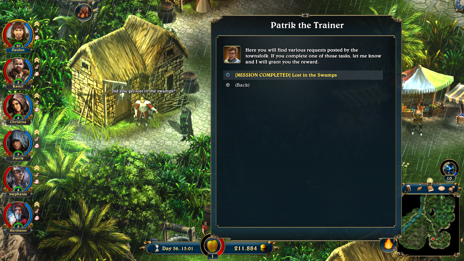 A job board in Lords of Xulima.