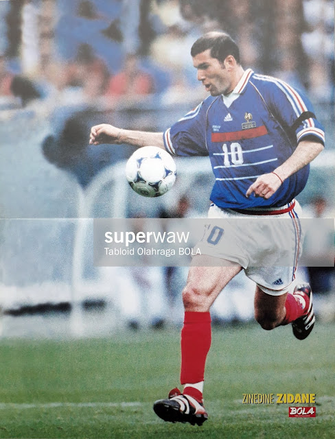 ZINEDINE ZIDANE FRANCE WORLD CUP 1998
