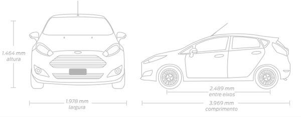 New Fiesta Hatch: Dimensões e capacidades do New Fiesta