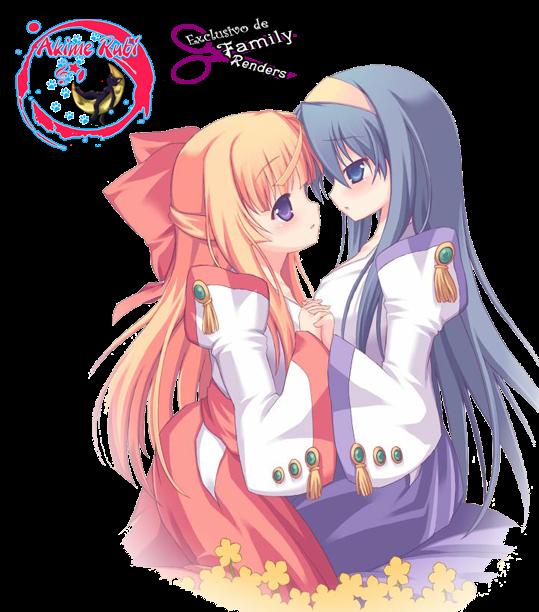 Chikane y Himeko chibi