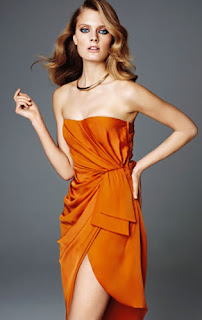 Orange Split Dress H&M Glamour Collection