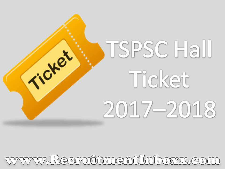 TSPSC Hall Ticket