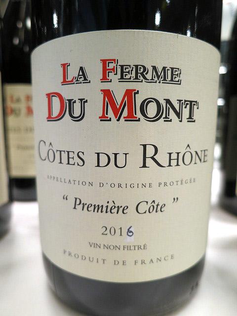 La Ferme du Mont Première Côte Côtes du Rhône 2016 (88 pts)