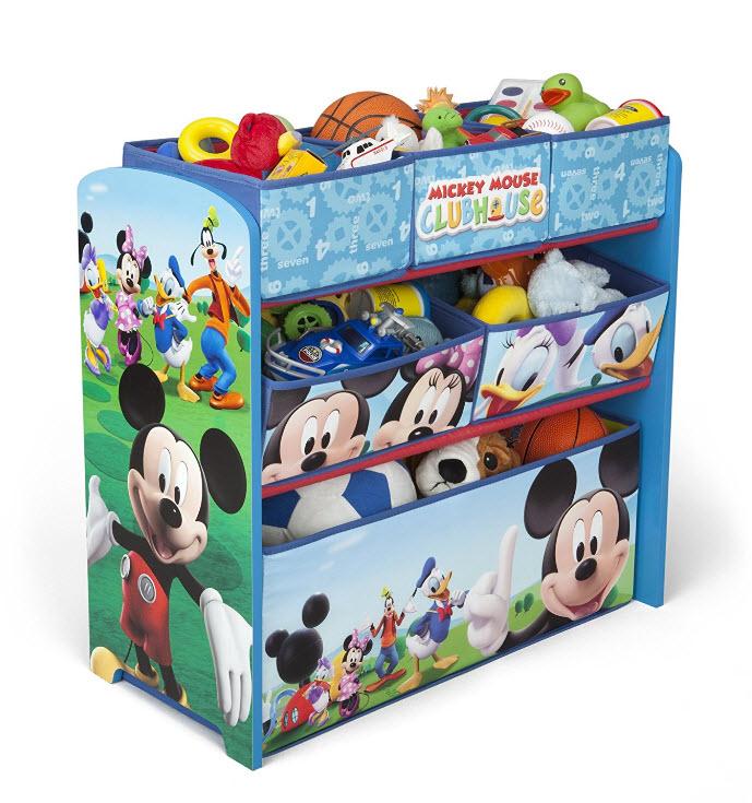 Disney mueble guarda juguetes y organizador de madera y y for Mueble guarda juguetes
