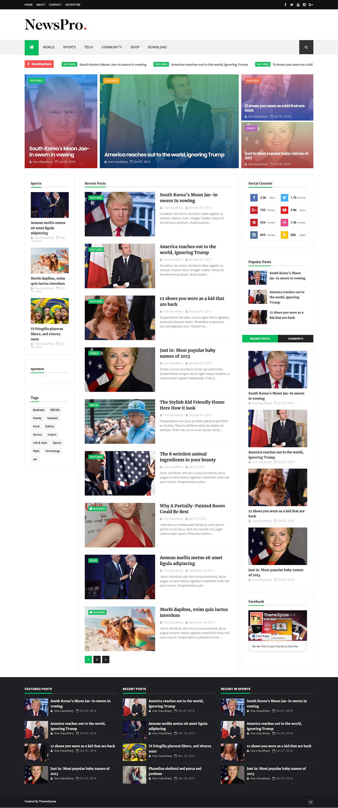 NewsPro template Blogspot free