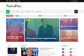 Mẫu Blogspot tin tức NewsPro  miễn phí tuyệt vời nhất