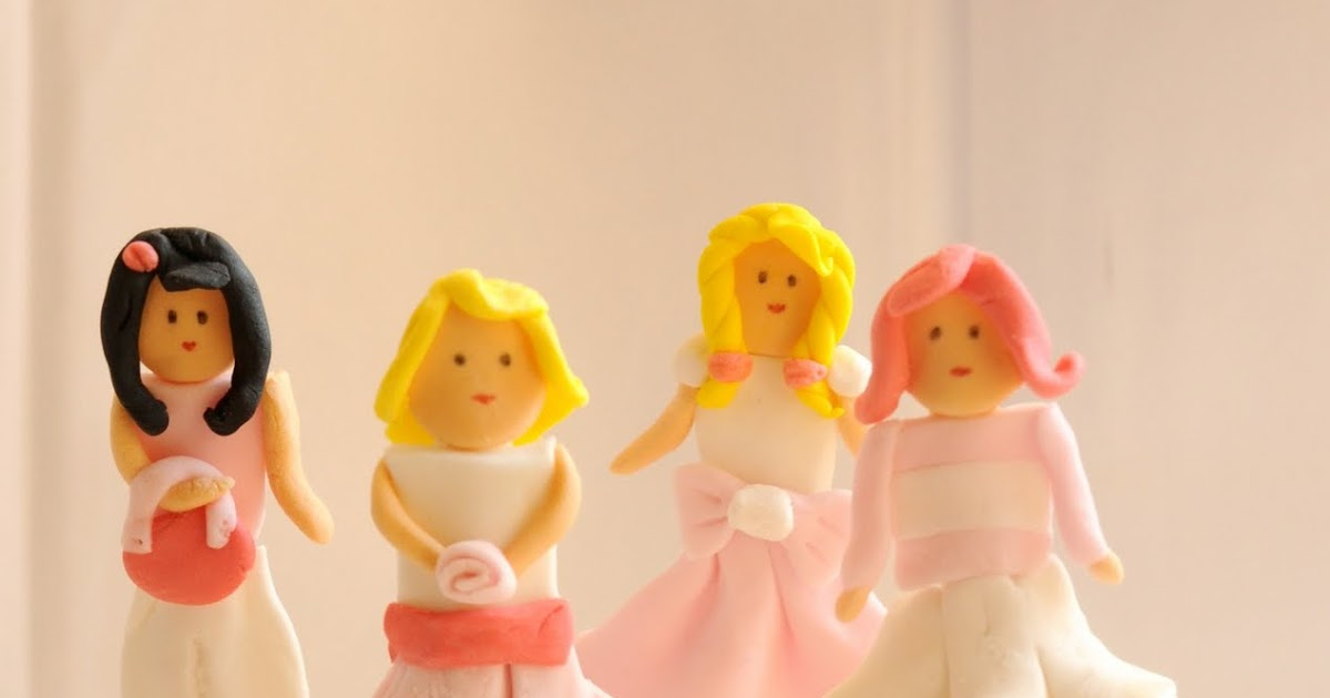 Diy Fondant Dolls Cupcake Toppers - Party Ideas  Party -3661