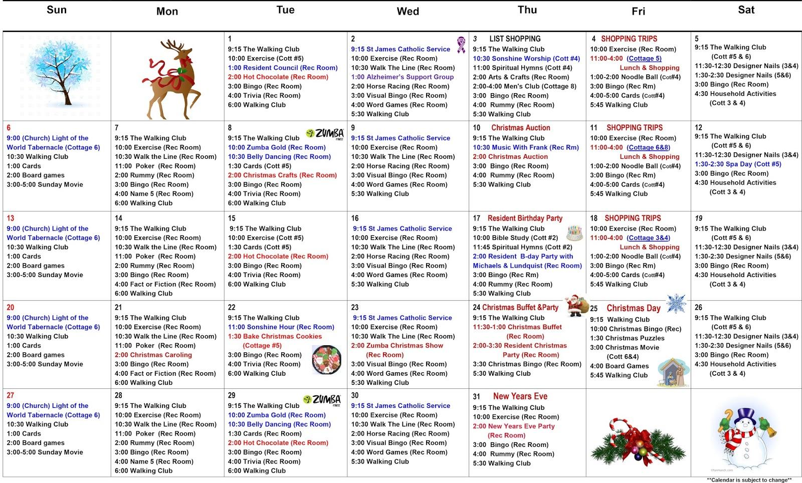 March 2015 senior activity calendar fun easy senior senior for Assisted living activity calendar template