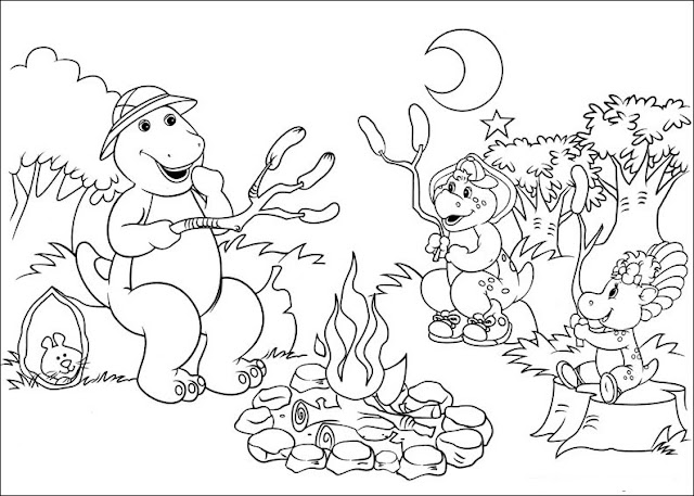 Fun Coloring Pages: Barney And Friends Coloring Pages