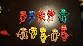 vintage plastic monsters