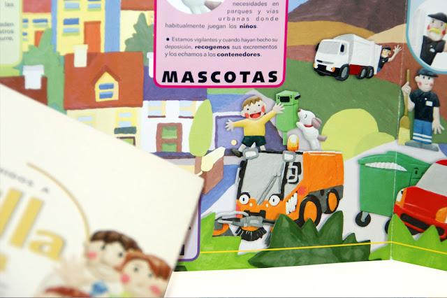 Ilustrando con plastilina, ilustracion plastilina, ilustracion 3D, ilustracion residuos urbanos, residuos urbanos, tratamiento residuos, tratamiento residuos urbanos.