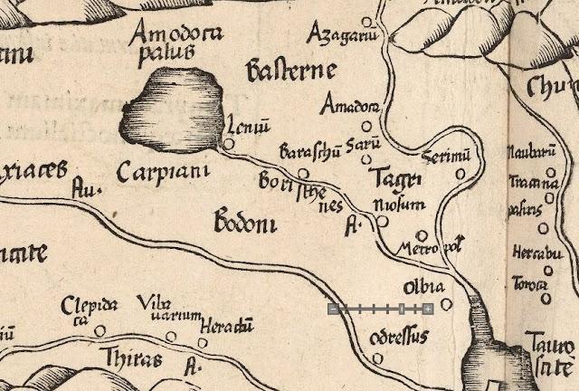 Борисфен вытекает из крупного озера
