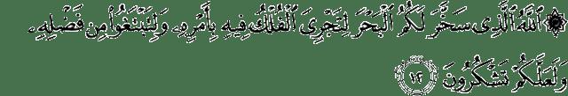 Surat Al-Jatsiyah ayat 12