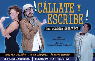 Poster 1 Callate y Escribe (Comedia)