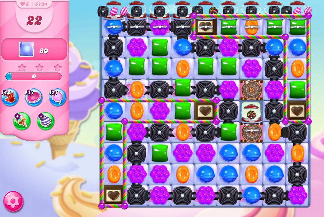 Candy Crush Saga level 5734