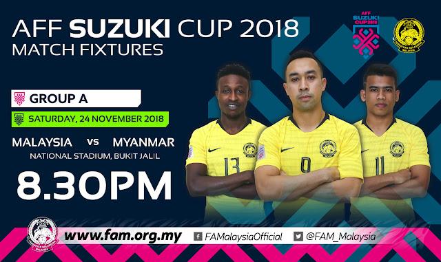 Malaysia vs Myanmar AFF Suzuki 2018