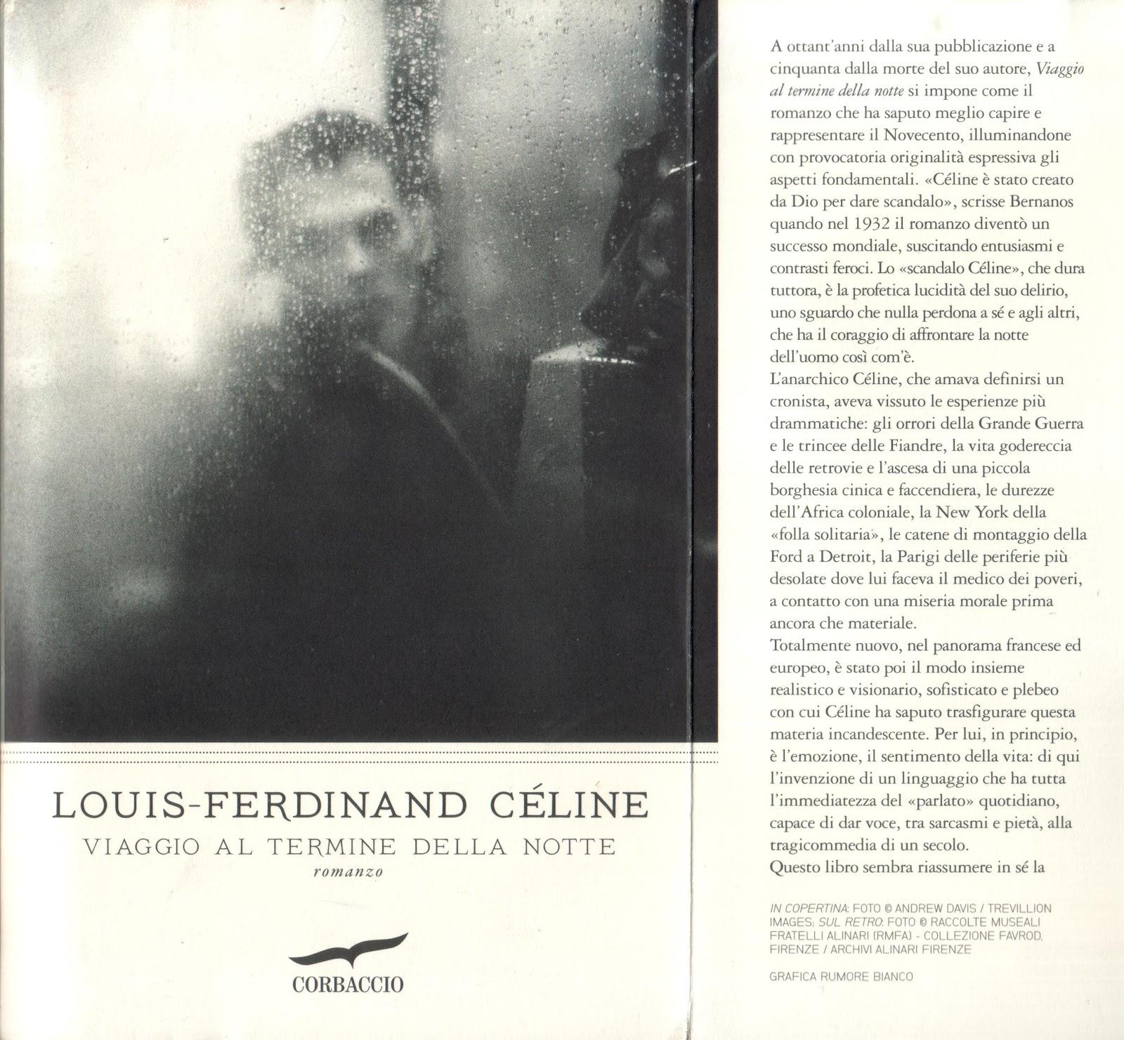 celine viaggio al termine della notte  LOUIS-FERDINAND CÉLINE – VIAGGIO AL TERMINE DELLA NOTTE (CORBACCIO ...