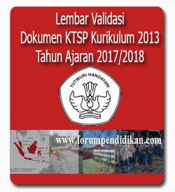 Lembar Validasi Dokumen Kurikulum 2013