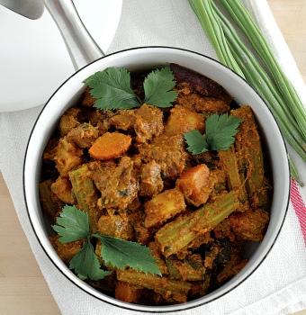 mutton curry with clove and lots of spices from singapore little india
