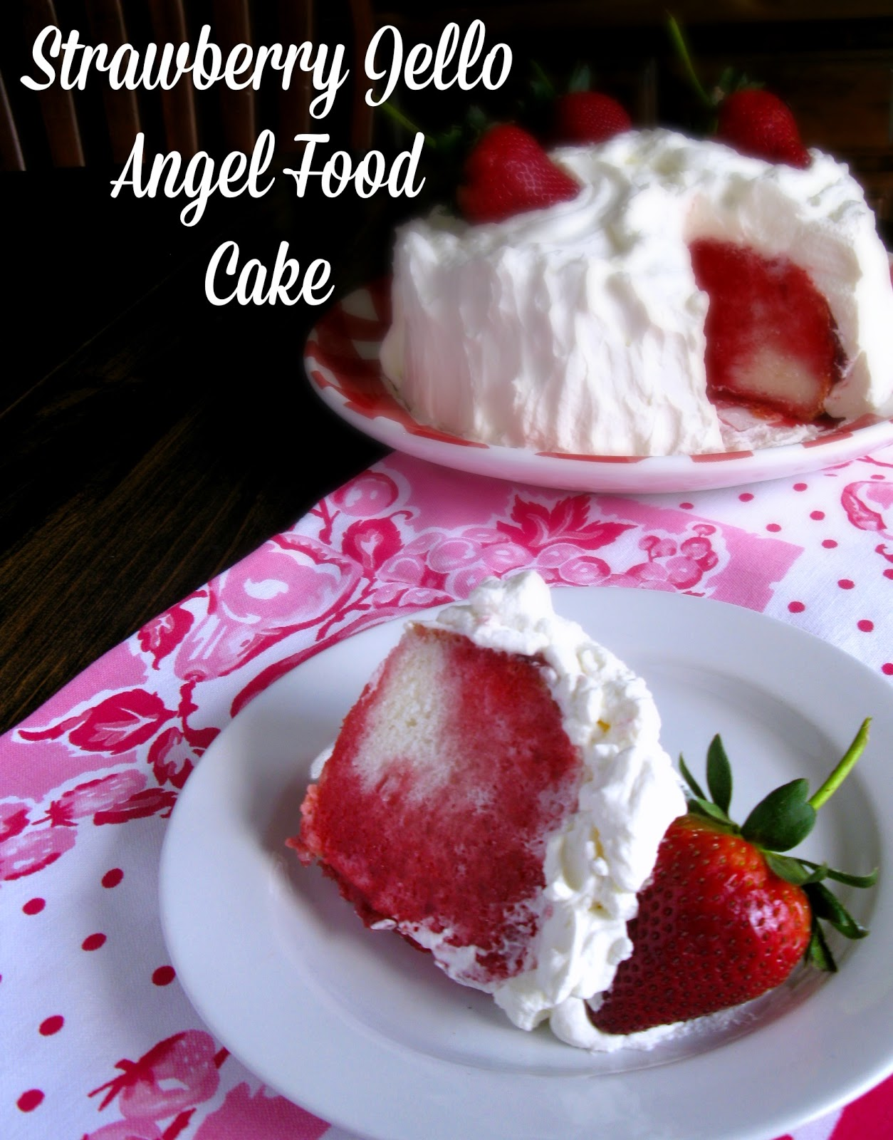 Angel Food Cake With Strawberries And Jello