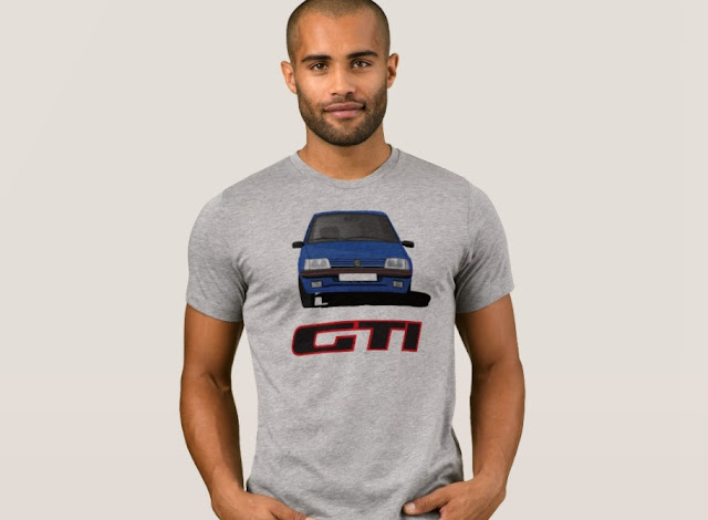 Peugeot 205 GTi t-shirt with a bagde