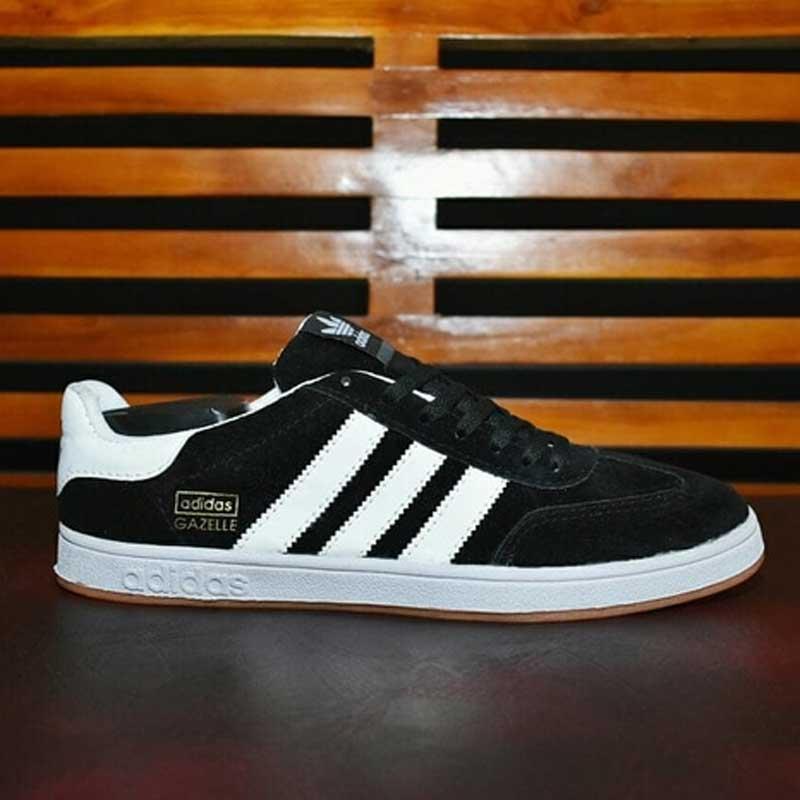 Sepatu Adidas Gazelle Hitam Putih Grade Original  SAG001   c838243dba