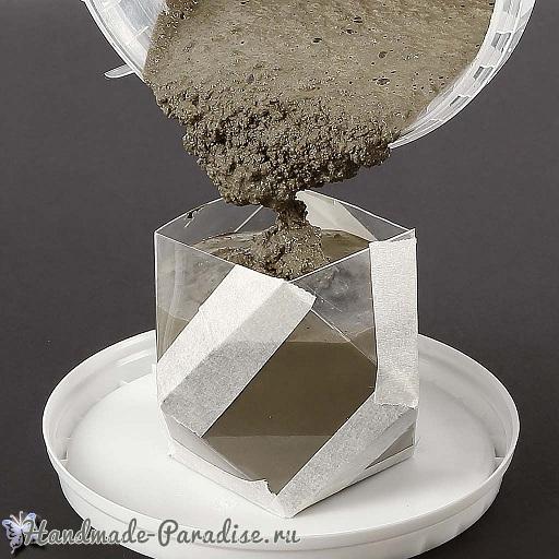 Подсвечник из бетона своими руками (3)